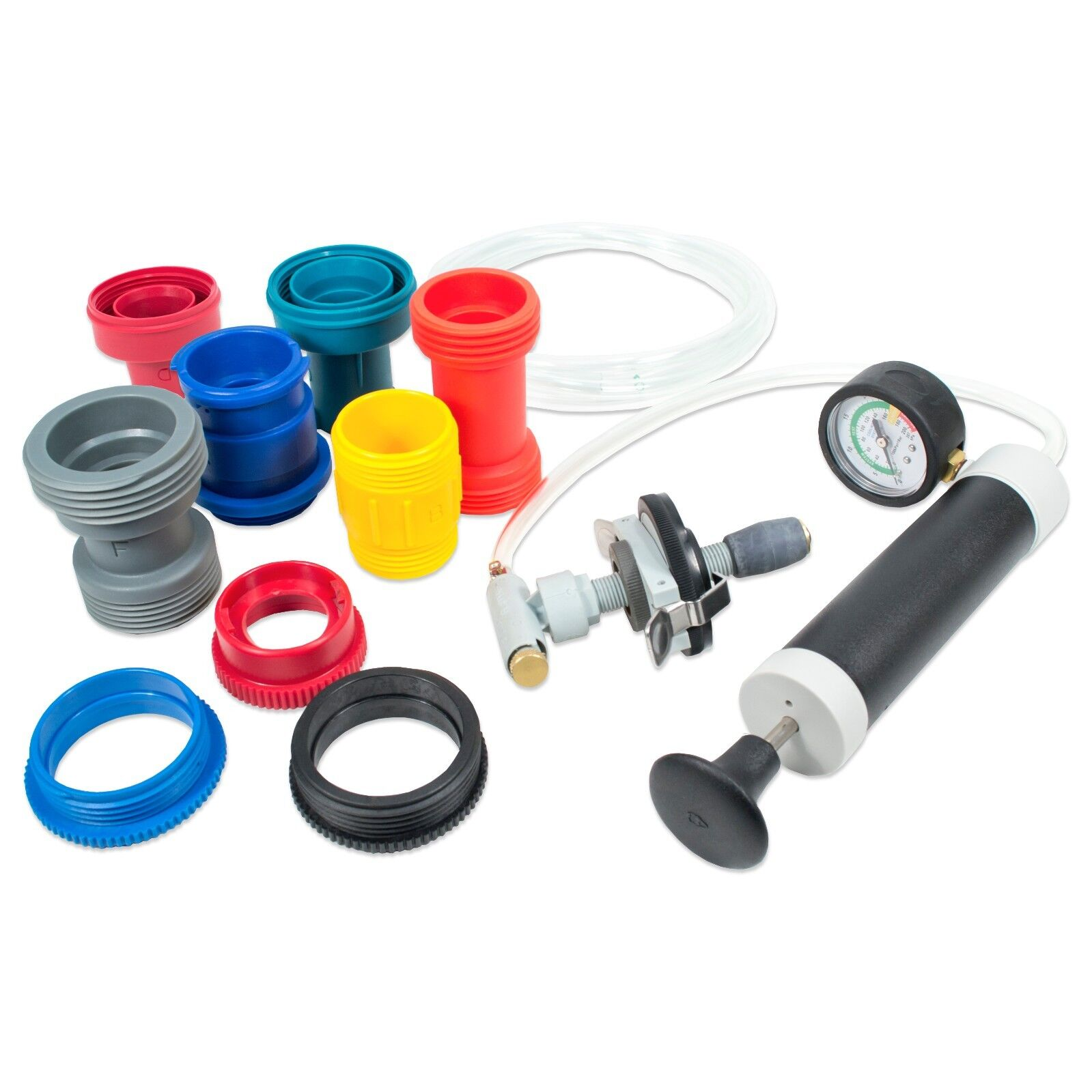 TGR Universal Radiator Cooling System Pressure Tester - Inflatable Bladder