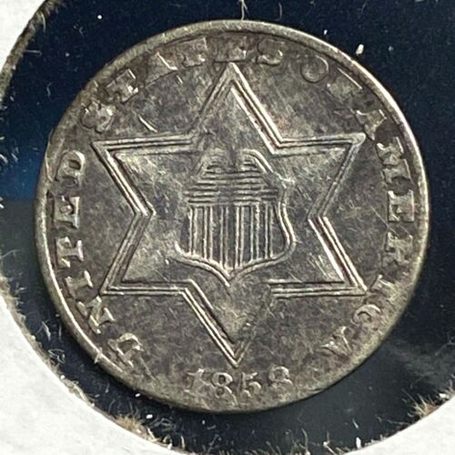 1858 3CS Three Cent Silver (56341)