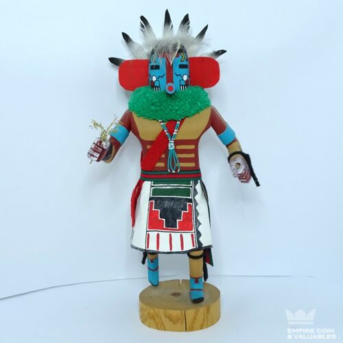"Authentic HOPI Hand-Made Kachina Doll -SIGNED 12"" Tall - E2"