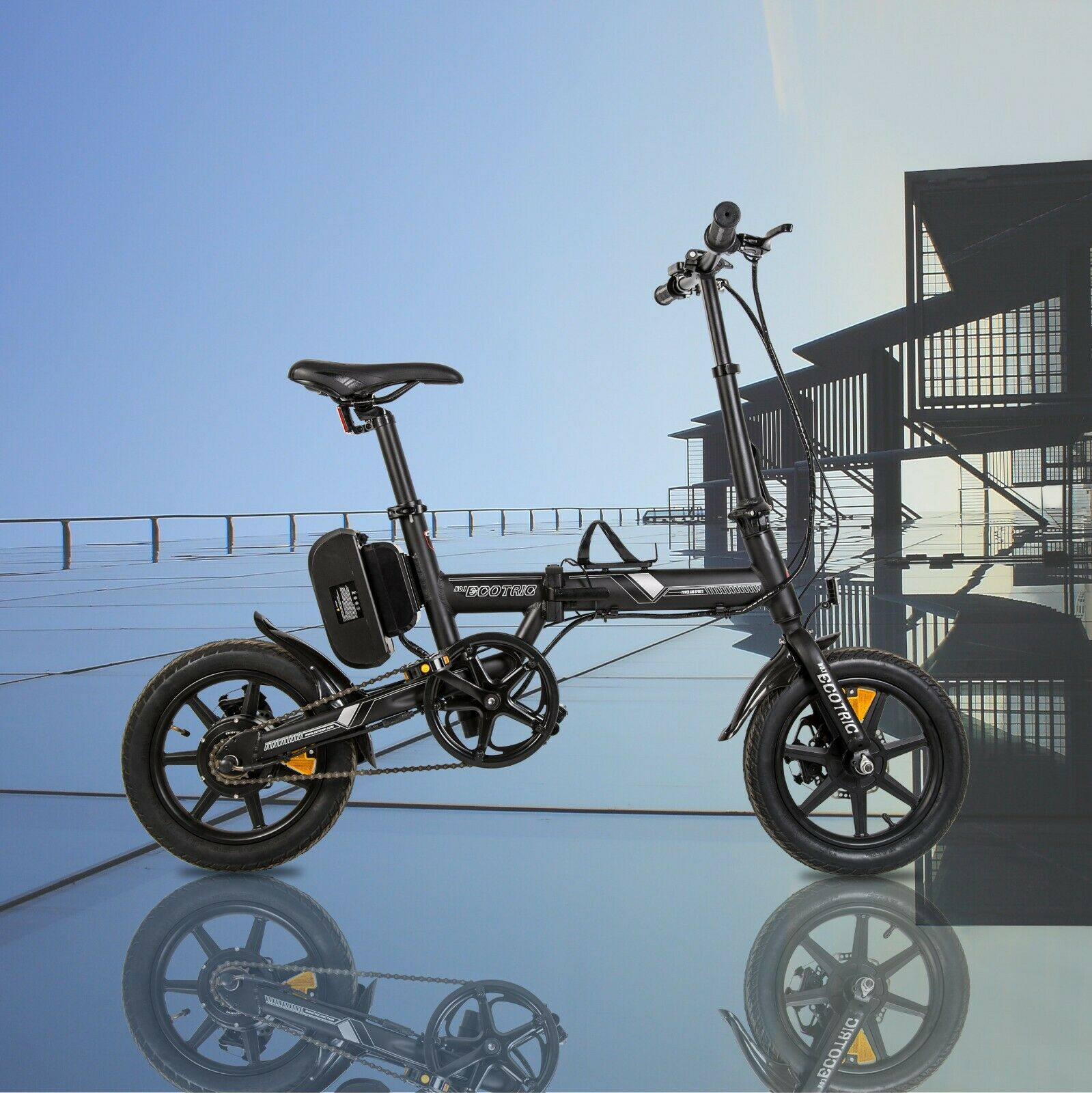 14 36v8ah folding electric bicycle ebike removable