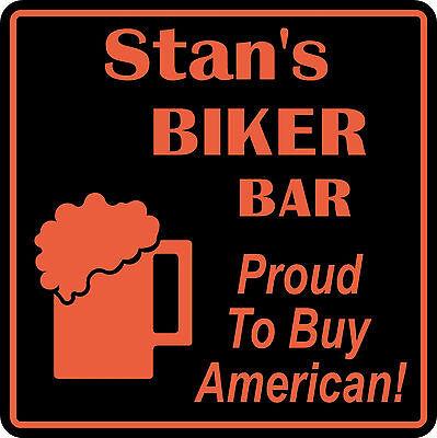 Personalized Custom Name Motorcycle Biker Bike Buy American Bar Gift Sign  5