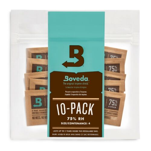 Boveda 75% RH 2-Way Humidity Control | Size 8 Protects Up to 5 Cigars | 10-Count