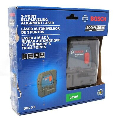 """Bosch Model """"GPL 3 S"""" 3-Point Self Leveling Alignment Laser With 100 Ft Range"""