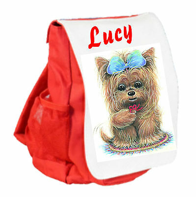 Personalised Childs Puppy Dog Ruck Sack Back Pack Nursery School Bag GIFT - Personalized Kids Back Packs