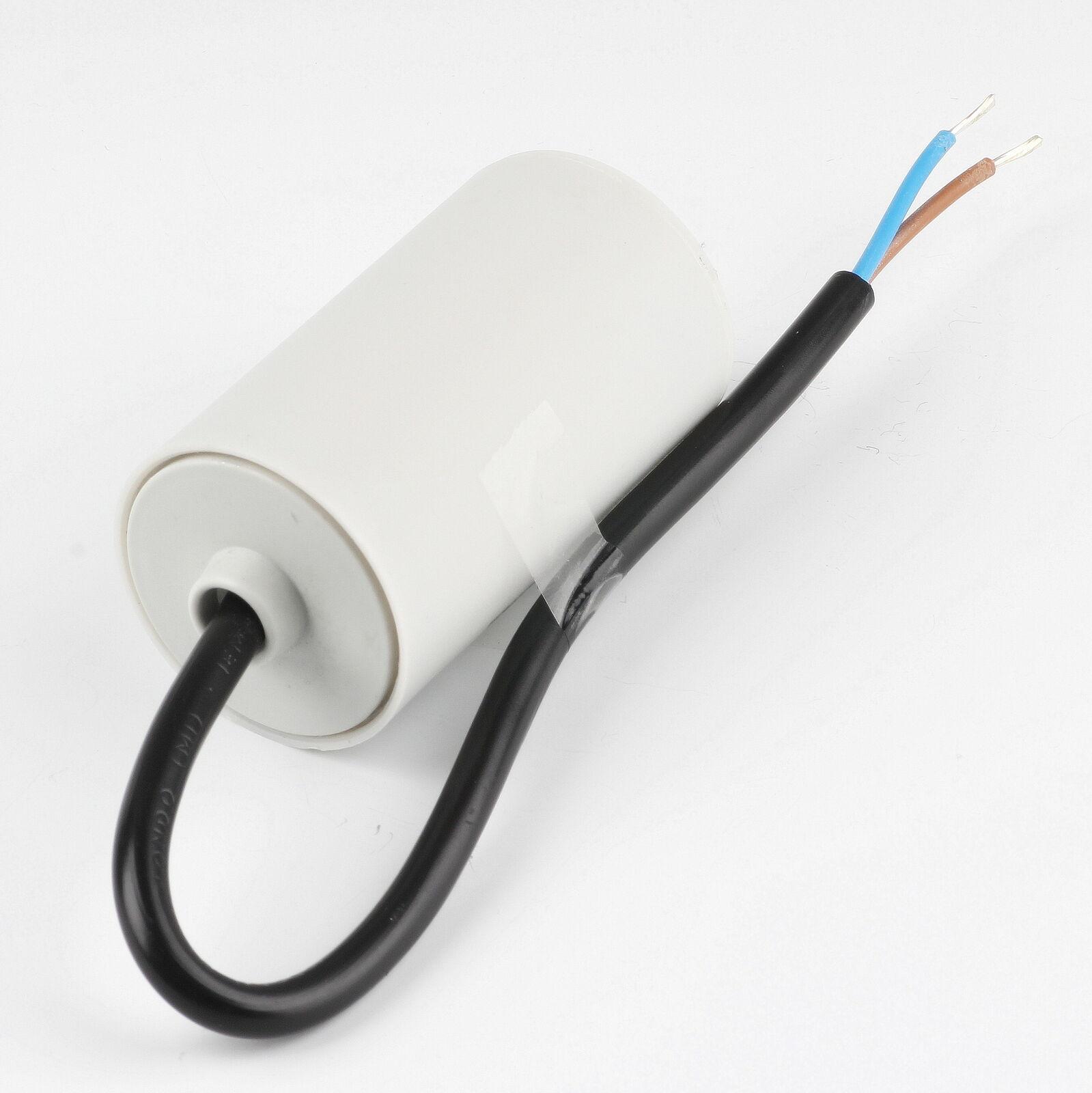 45uF 450V Anlaufkondensator Motorkondensator mit Kabel spritzwassergeschützt
