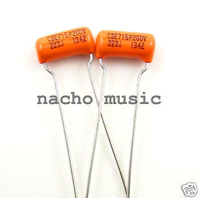 Set of 2 Orange Drop Tone Capacitor .022uf 200V ±5% 715P Series (2 Pack)