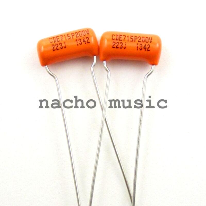 Set of 2 Orange Drop Tone Capacitor .022uf 200V ±5% 715P Series (2 Pack)