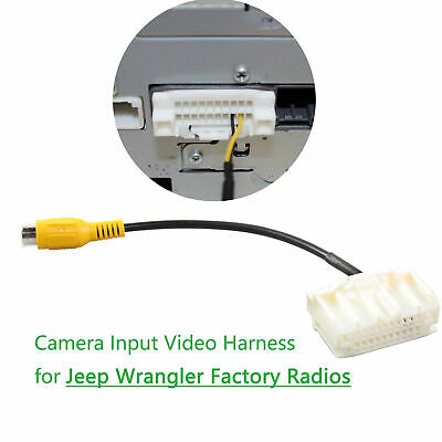 Rearview Camera Input Interface Harness for Jeep Wrangler All OEM Display - Harness Jeep Wrangler