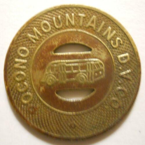 Pocono Mountains D. V. Co. (Stroudsburg, Pennsylvania) transit token - PA870B