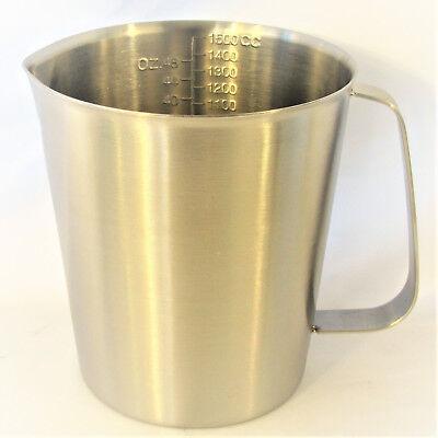 Stainless Steel Beaker Cup Mug 500-2000 Ml 16-64 Oz Lab Measuring Pitcher Handle