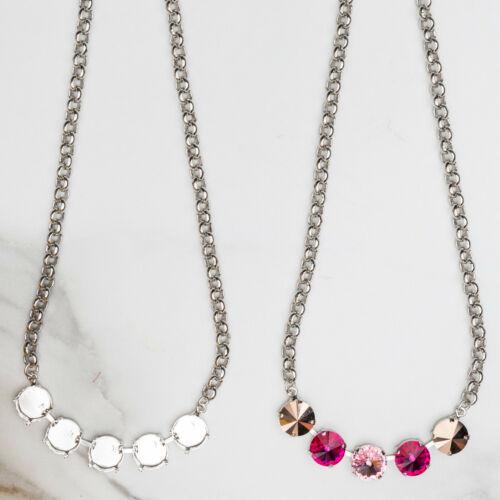 12mm Round | Five Setting DIY Necklace Base | Three Pieces (#EN 214)