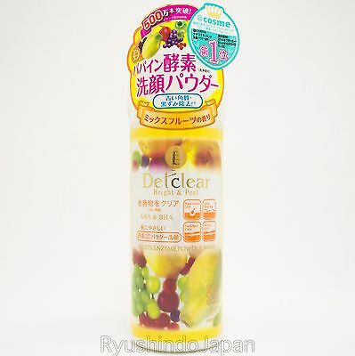 Meishoku Detclear Powder Wash with Fruits Enzyme AHA & BHA Mix Fruits Fragrance