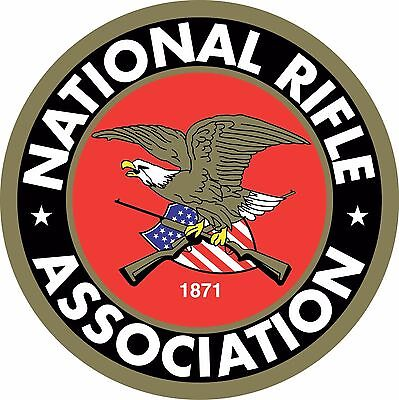 """(2) NRA National Rifle Association Gun 2nd Amendment Vinyl Sticker Decals 2""""x2"""""""