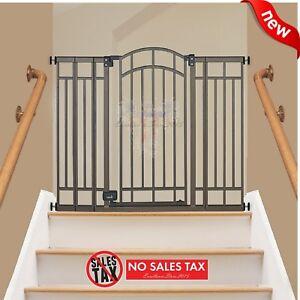 Extra Tall Walk Thru Safety Gate Pet Dog Toddler Baby Child Stairs Through  Wide