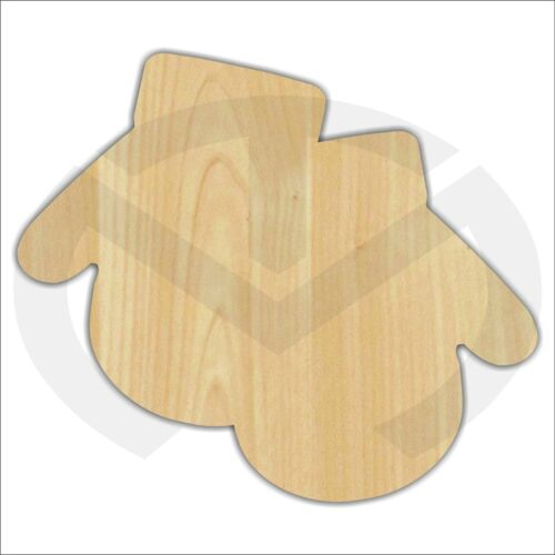 Unfinished Wood Mittens Laser Cutout, Wreath Accent, Door Hanger, Ready to Paint
