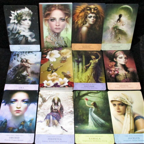 SEALED NEW ~ ELLE QUI CARD & BOOK ORACLE FEMALE WARRIORS SHARE LIFE LESSONS