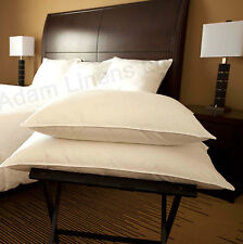 """4 x Duck Feather and Down Pillows, 19x29"""" Extra Filling Hotel Quality"""