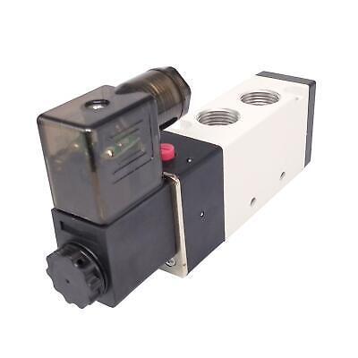 4v310-10 Dc12v 38 Bspt 5 Way 2 Position Single Solenoid Pneumatic Air Valve