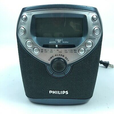 Philips Magnavox AJ3952/17 Dual Alarm Clock CD Player AM FM Radio Tested 2.C5