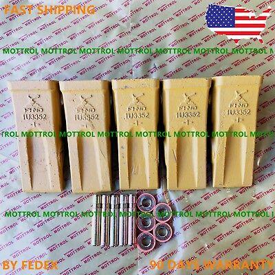 5 Pk 1u3352 1u-3352 Bucket Teeth9j2358 Pins 8e6359 Retainer Fits Cat J350new