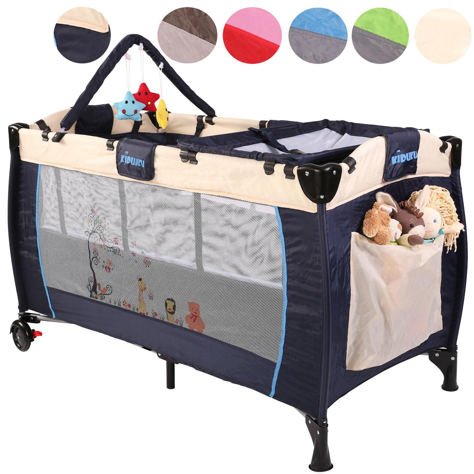 Babybett Baby Reisebett Kinderreisebett Kinderbett Klappbett Laufstall 6 Farben