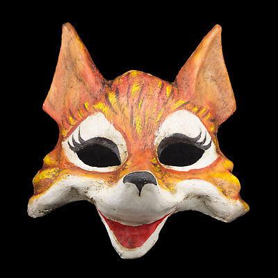 Mask Venetian Fox Goupil paper Mache costume Venice - 1903 X26