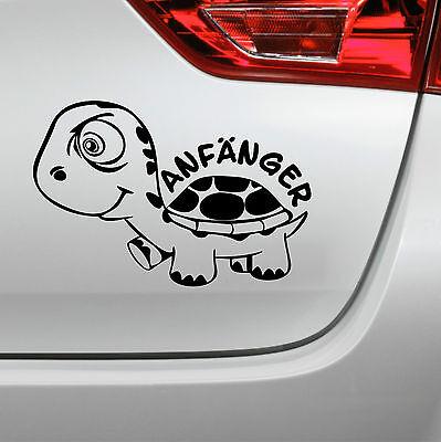 Auto Aufkleber Anfänger Turtle Schildkröte Fahranfänger sticker ()