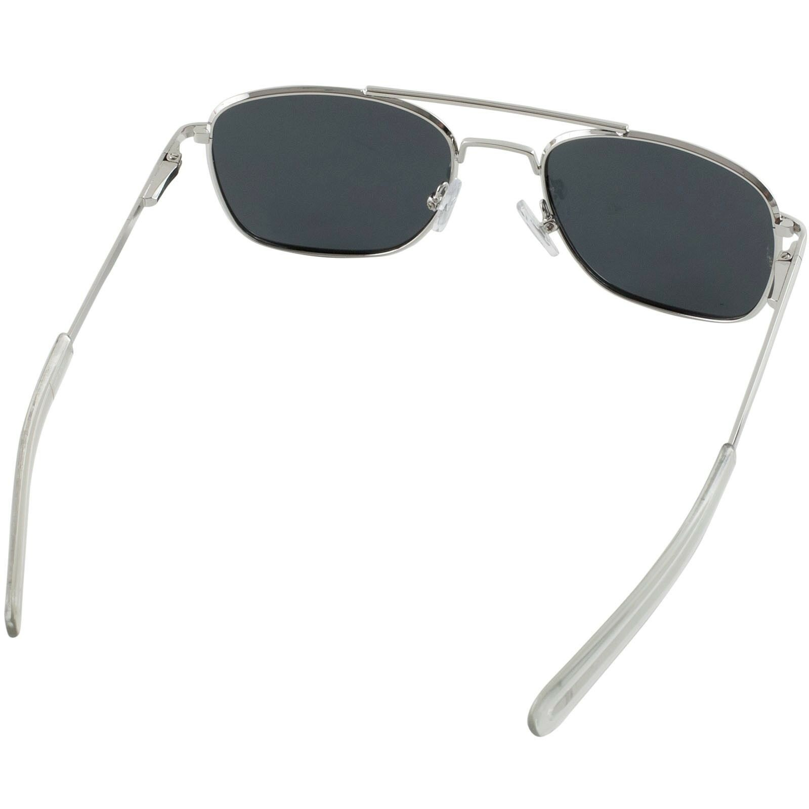 33194b35339 Humvee Military Pilot Silver Frames 52 mm Mens SUNGLASSES Metal Polarized  Lens