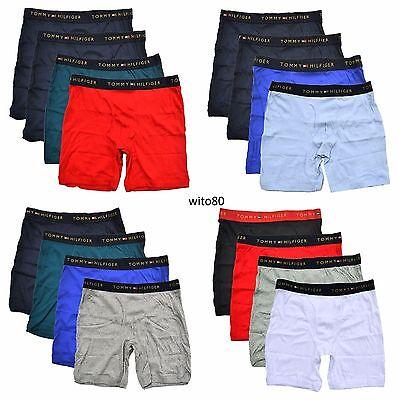 4 Pack Tommy Hilfiger Boxer Briefs Mens Underwear Solid New  42 99