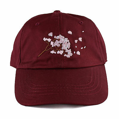 Agora Cherry Blossom 6 Panel Dad Hat Cap gosha palace 5 vaporwave arizona NEW