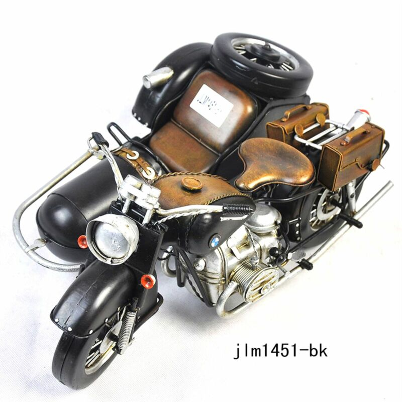 Handmade 1938 BMW R71 Three-Wheeled Motorcycle 1:8 Antique Style Metal Model