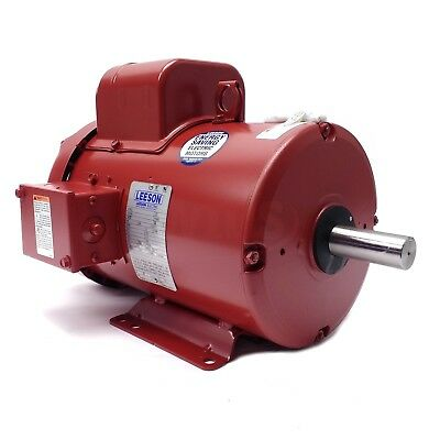 131542.00 3hp Leeson Electric Motor Tefc 1725 Rpm 184t 1 Ph. 230v. 131542