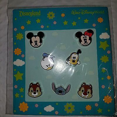 Disney Pins  CUTE FAB CHARACTER FACES * NEW 7 Pin Booster Set