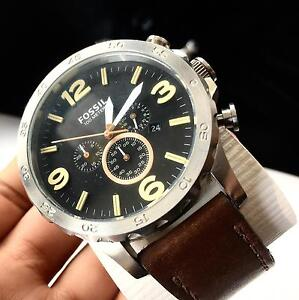MENS FOSSIL WATCH / BROWN LEATHER WRIST BAND $120 Cranebrook Penrith Area Preview