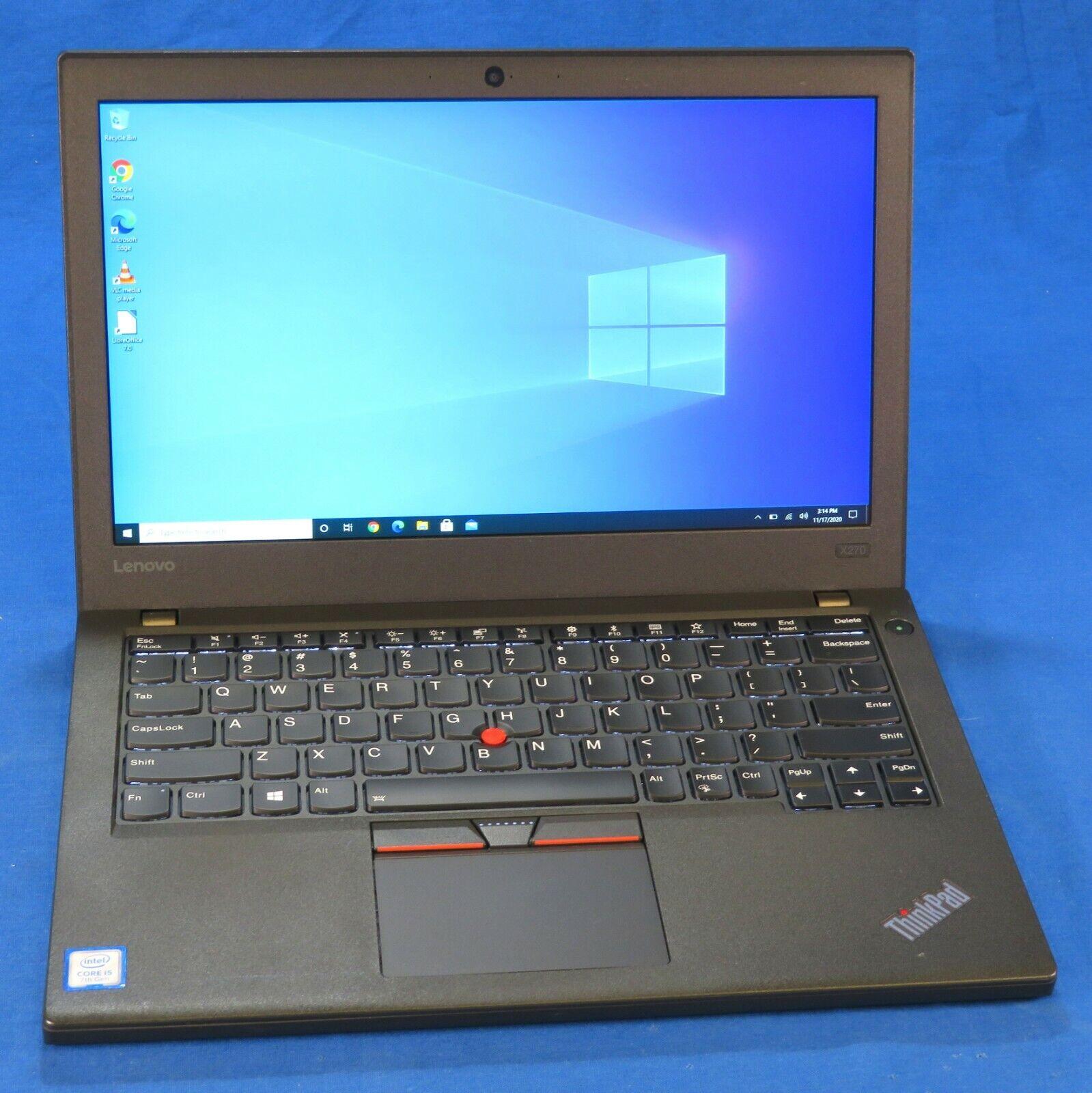 """LENOVO ThinkPad X270 12.5"""" Laptop - i5-7300U, 8GB RAM, 256GB"""