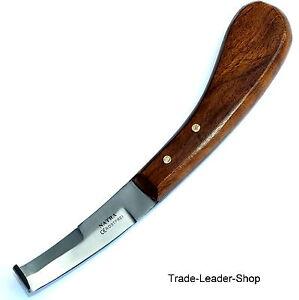 Hufmesser beidseitig zweischneidig Holzgriff Pferde Klauenmesser Rinnenmesser