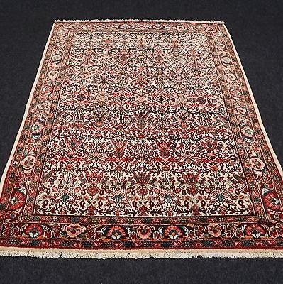 Orient Teppich Beige 145 x 105 cm Perserteppich Alt Old Oriental Carpet Tappeto