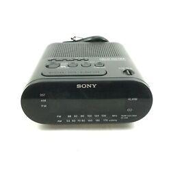 Sony Dream Machine Digital Alarm Clock AM FM Radio Black Model ICF-C218 ✔ 6.E1