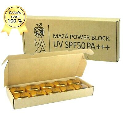 10 X MAZA Sunscreen POWER BLOCK UV SPF50++4 IN1 Protects Skin Remove Wrinkles 5g 4in 1 Sunscreen