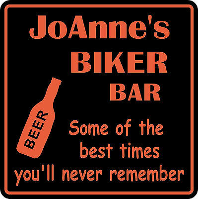 Personalized Custom Name Motorcycle Biker Bike Best Times Bar Beer Gift Sign  6