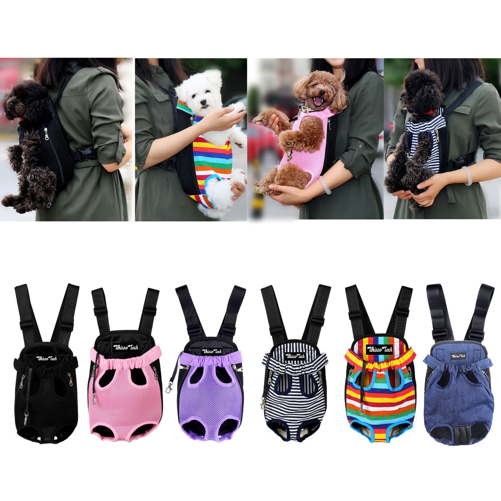 Pet Carrier Backpack Adjustable Pet Front Cat Dog Carrier Travel Bag Legs Out Carriers & Totes