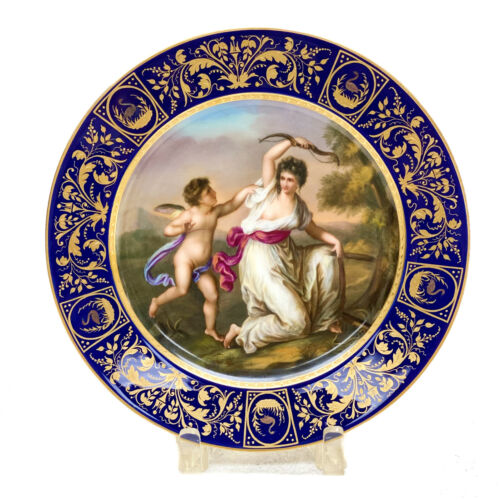 Royal Vienna Austria Porcelain Cabinet Plate Cupid and Beauty, circa 1900