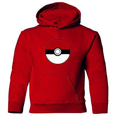 Pokeball  Adult unisex long sleeve polycotton hoodie hoody  (Pokemon Hoody)