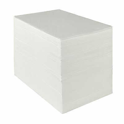 """Aain AA002 Oil-Only Absorbent Mat,Heavyweight Oil Absorbent Pads,15"""" x 20"""",White"""