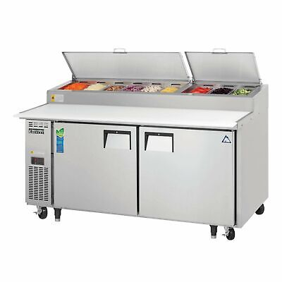 Everest Eppr2 71 Pizza Prep Table Refrigerated Counter