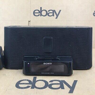 Sony Dream Machine ICF-C1ip AM FM Sound Speaker Radio 30 Pin iPod iPhone 5.E3