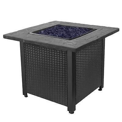 "Endless Summer 30"" Push Button Start All Weather Outdoor Patio LP Gas Fire Pit"