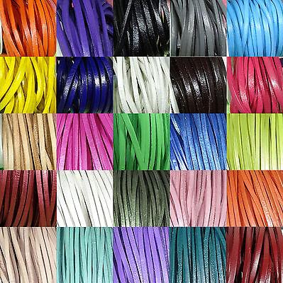 3mm A107 - 25 Farben Leder Leder Pelle Leder Leder Zählt (Farbe Zählt)