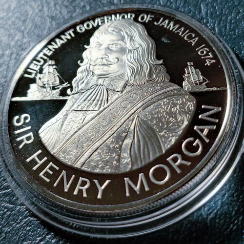 SOLID PROOF SILVER GEM 1974 JAMAICA PROOF $10 TEN DOLLARS HENRY MORGAN w HOLDER.