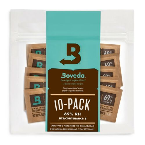 Boveda 69% RH 2-Way Humidity Control | Size 8 for Up to 5 Cigars | 10-Count